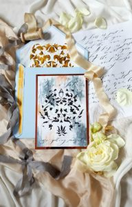 Uniquely Crafted Hand Painted Wedding Invitations