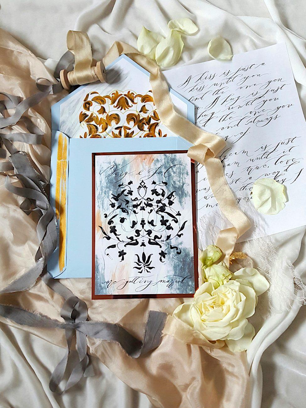 Unique & Handmade Wedding Invitations suite