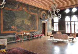 20 Luxury Wedding Venues in Italy Ca Sagredo decadent furnishings
