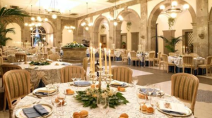 20 Luxury Wedding Venues in Italy Grand Hotel Cocumella indoor banquet area