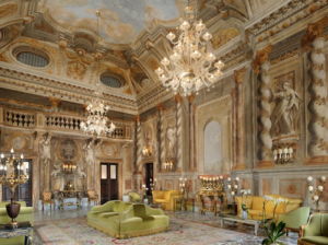 20 Luxury Wedding Venues in Italy luxuriously decorated interior of Palazzo Gori Pannilini