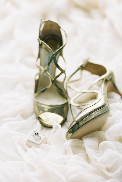 Fine Art Wedding Inspiration shoes with ring box