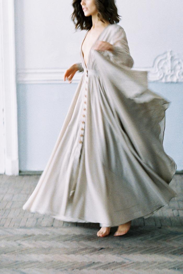 Fine Art Wedding Inspiration with grey dress