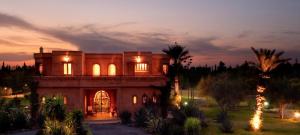 Luxury Wedding in Morocco Villa Dinari at night