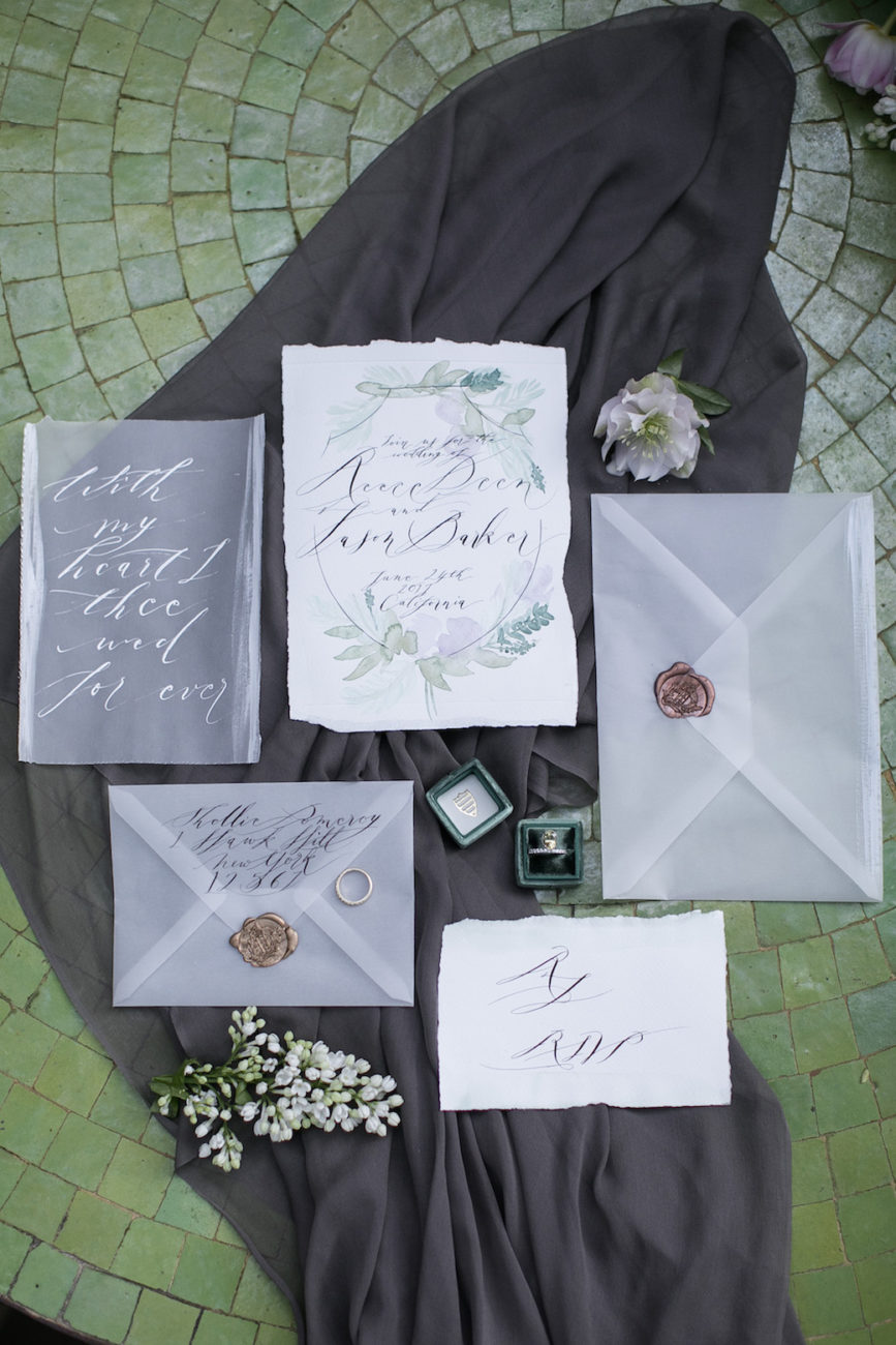 Neutral Wedding Inspiration_wedding invitations collection