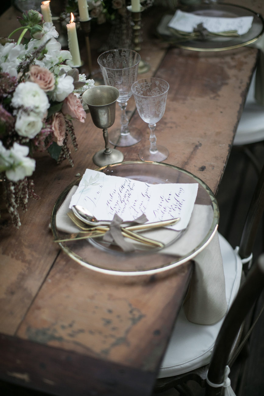 Neutral Wedding Inspiration_wedding menu inspiration