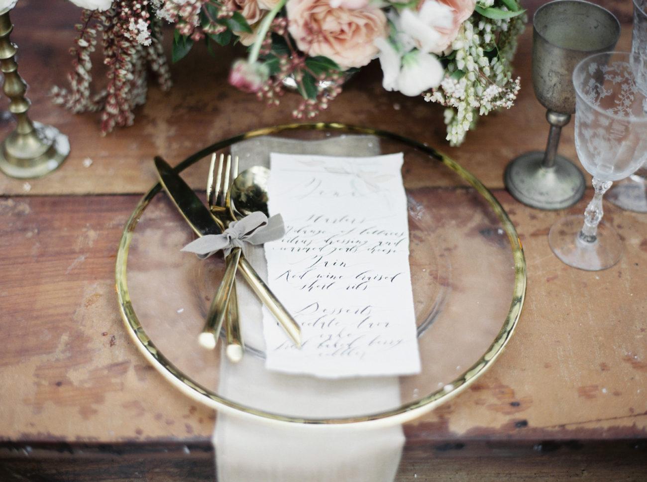 Neutral Wedding Inspiration_wedding plate setting