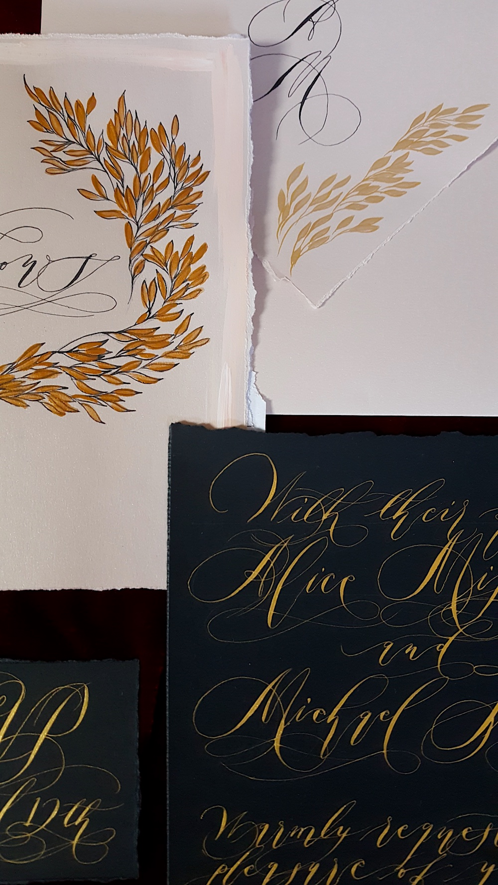 Black Tie Party Invitations vow books - Crimson Letters