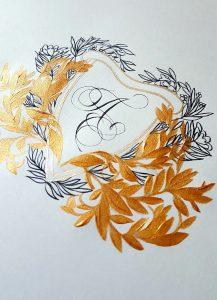 Designer Wedding Invitations_ monogram design for envelope
