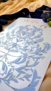Designer Wedding Invitations _ blue table number