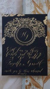 Designer Wedding Invitations _ with gold foil