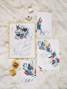 Designer Wedding Invitations autumn collection