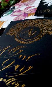 Designer Wedding Invitations_ Black Tie invitations