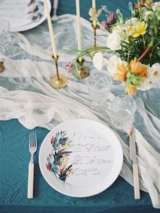 Designer Wedding Invitations_ wedding menu
