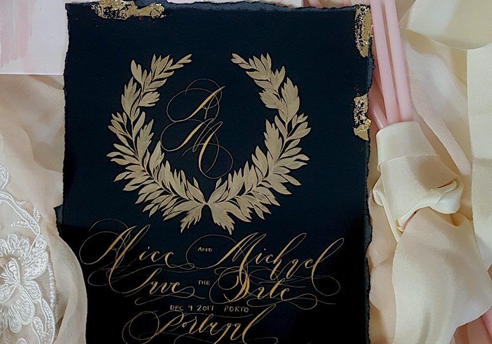 Designer Wedding Invitations_Black tie event invitations