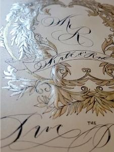 Designer Wedding Invitations_silver card detail