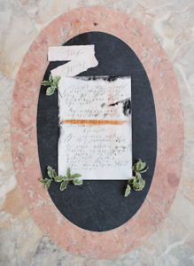 European Wedding Inspiration-hand painted wedding vows with calligraphy