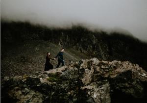 Best Destination Wedding Locations Iceland mountain with mist