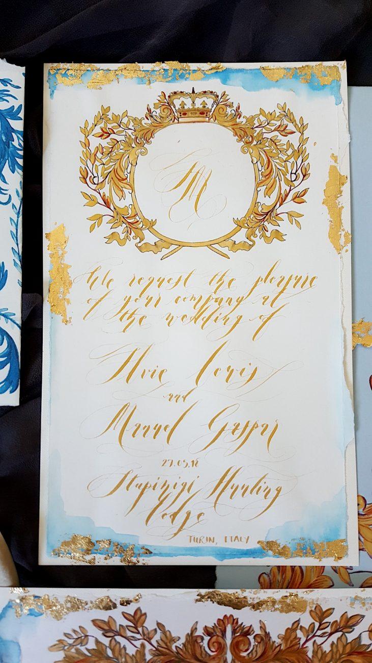 Couture Wedding Invitations main invitation card