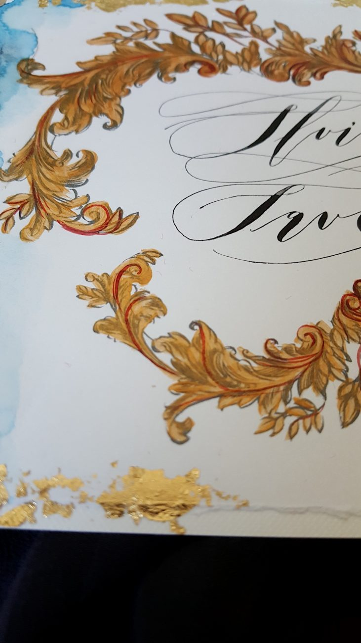 Couture Wedding Invitations save the date close up