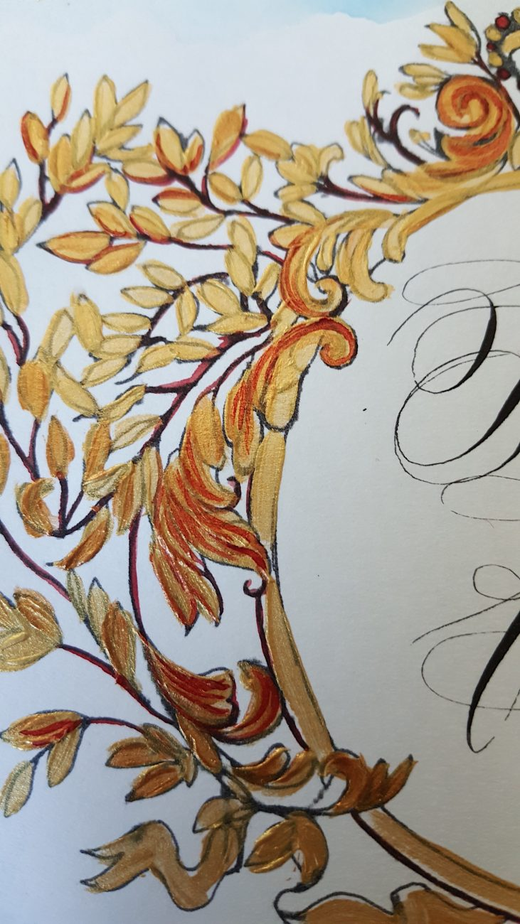 Couture Wedding Invitations table number close up view