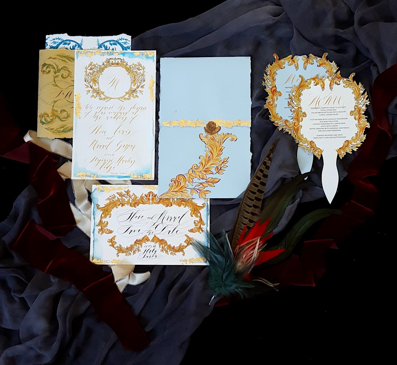 Couture Wedding Invitations whole invitation suite