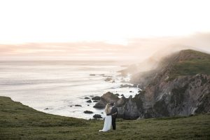 Destination Wedding Locations Cliffs with couple