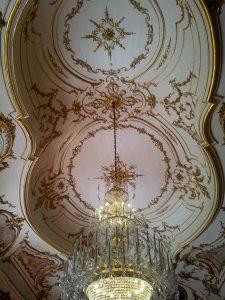Destination Wedding Locations Queluz Palace lights
