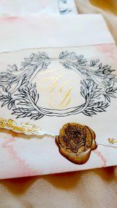Wedding Stationery Designer Invitation crest