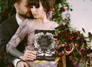 Wedding Stationery Designer black card copy