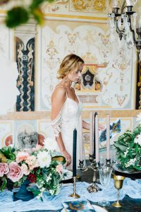 Wedding stationery designer bride