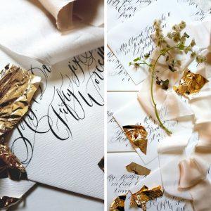 Wedding stationery designer calligraphy