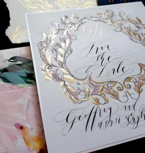 wedding stationery designer crest