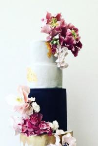 luxury wedding cake designers black and white cake with flowers