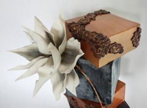 luxury wedding cake designers block inspired cake