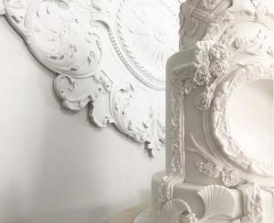 luxury wedding cake designers bright white icing