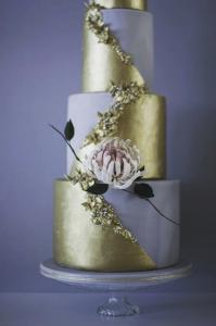 luxury wedding cake designers lilac and gold cake