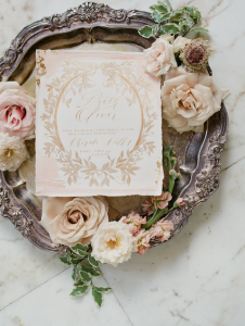 luxury wedding cake designers pale gold wedding invitation