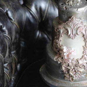 luxury wedding cake designers pink baroque sugar art