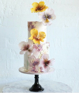 luxury wedding cake designers smudges and textural cake