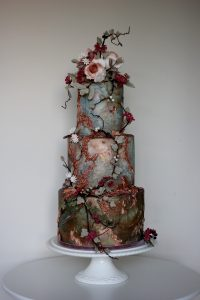 5 wedding cake designers copper and blue