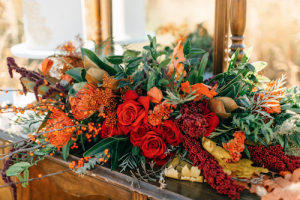 Rich Red & Gold Autumn Wedding colours