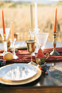 Rich Red & Gold Autumn Wedding table runners
