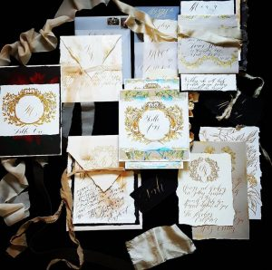 Wedding stationery business hand painted wedding invitations