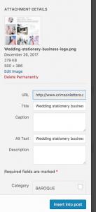 wedding stationery business alt text