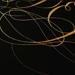 Wedding stationery business gold calligraphy flourishes