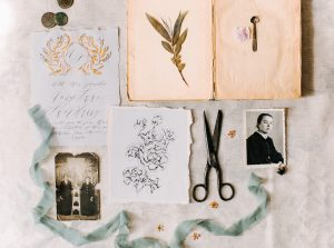 Latest Wedding invitation trends for 2019 line drawing botanicals