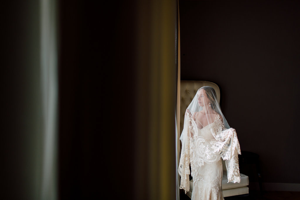 French Wedding Inspiration bride with veil