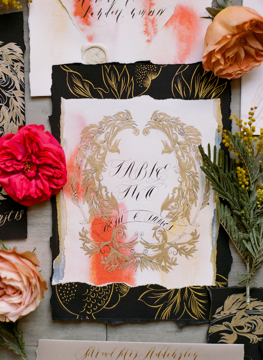 Latest Wedding invitation trends for 2019 - crests for table numbers