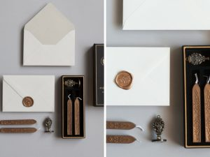Latest Wedding invitation trends for 2019 wax seal stamps small